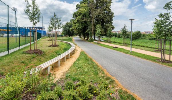 silnice a zeleň